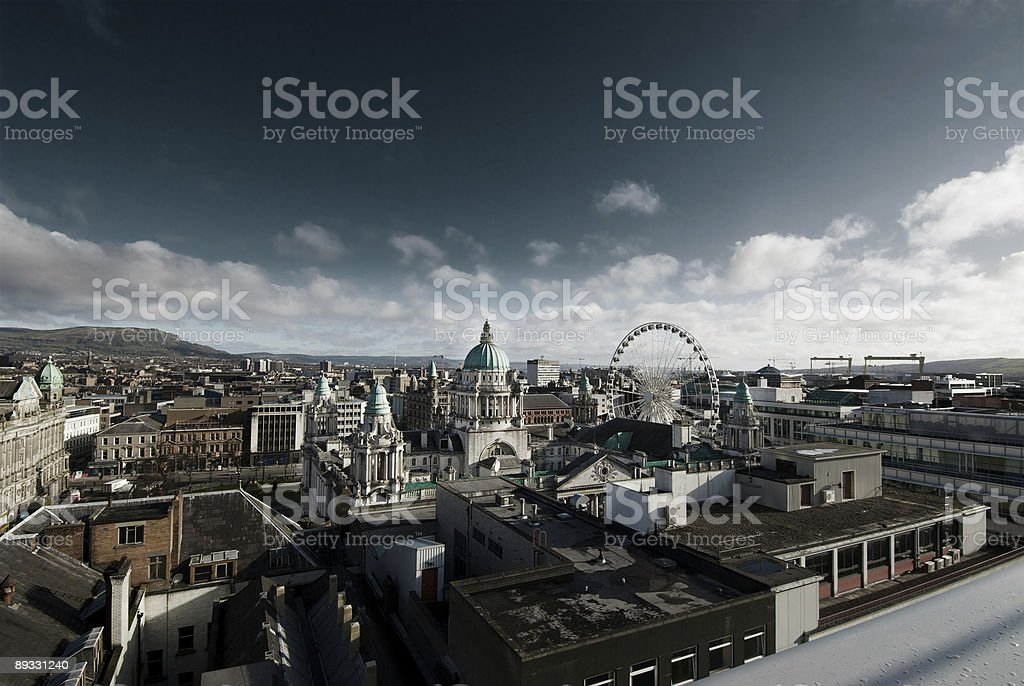 Belfast City Centre stock photo