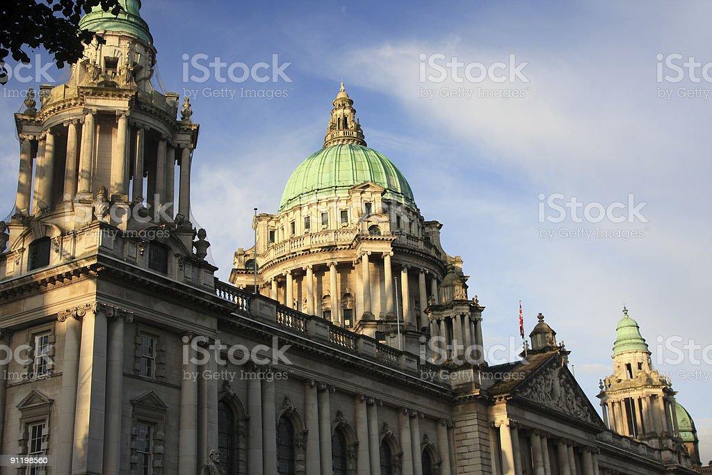 Belfast City Hall in Northern Ireland, UK stock photo