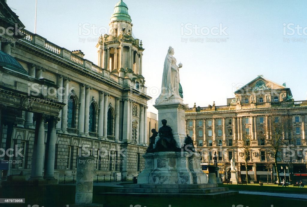 Belfast City Hall, Northern Ireland stock photo