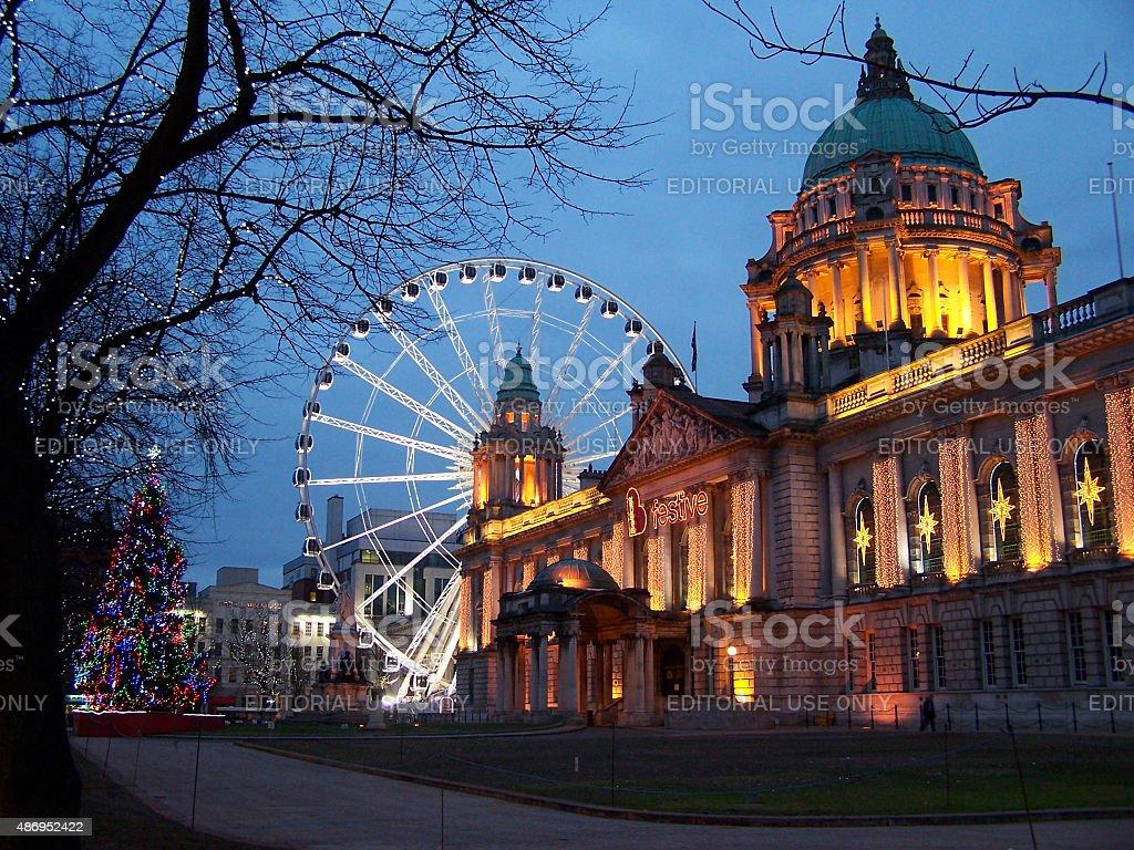 Belfast City Hall stock photo