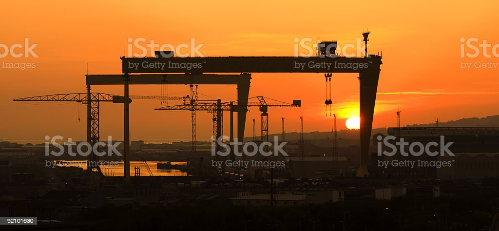 Belfast Docks stock photo