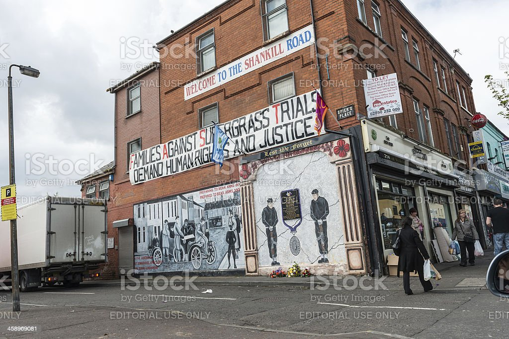 Belfast Murals royalty-free stock photo
