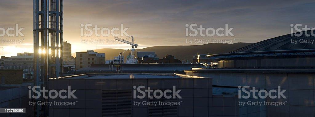 Belfast Skyline stock photo