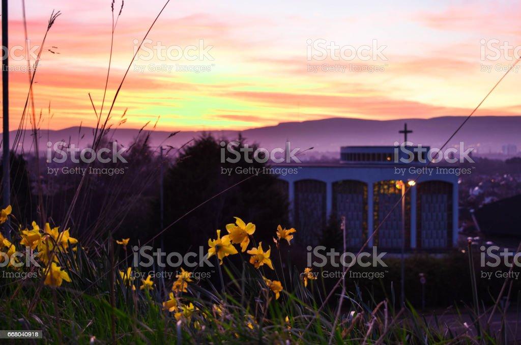 Belfast Sunset stock photo