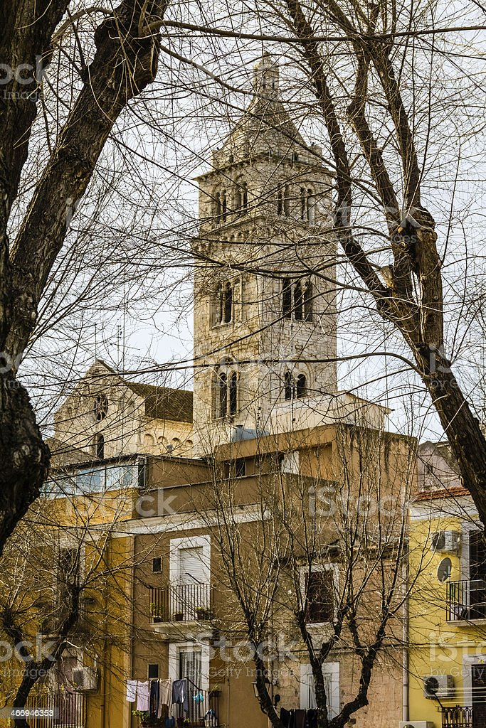 Belfry and branches royalty-free stock photo