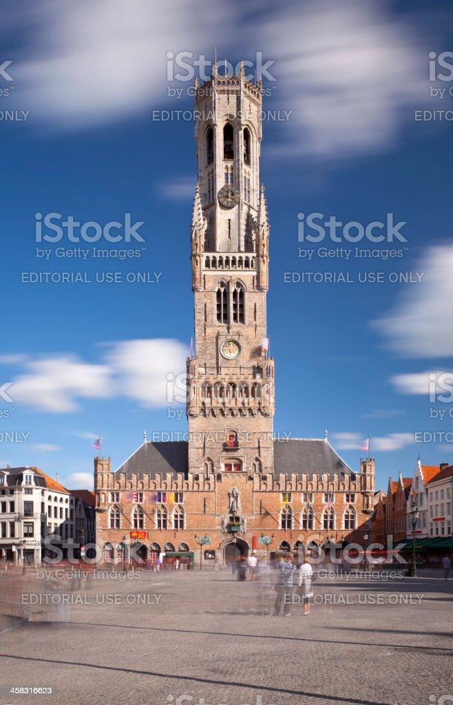 Belfry In Bruges, Belgium royalty-free stock photo