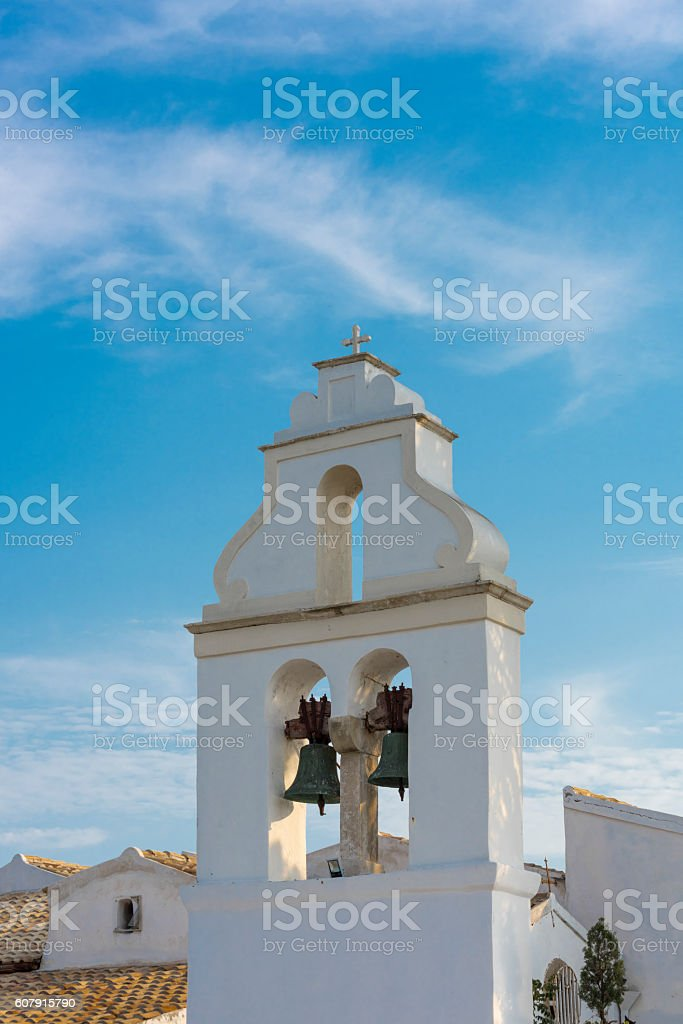 Belfry in Greece stock photo