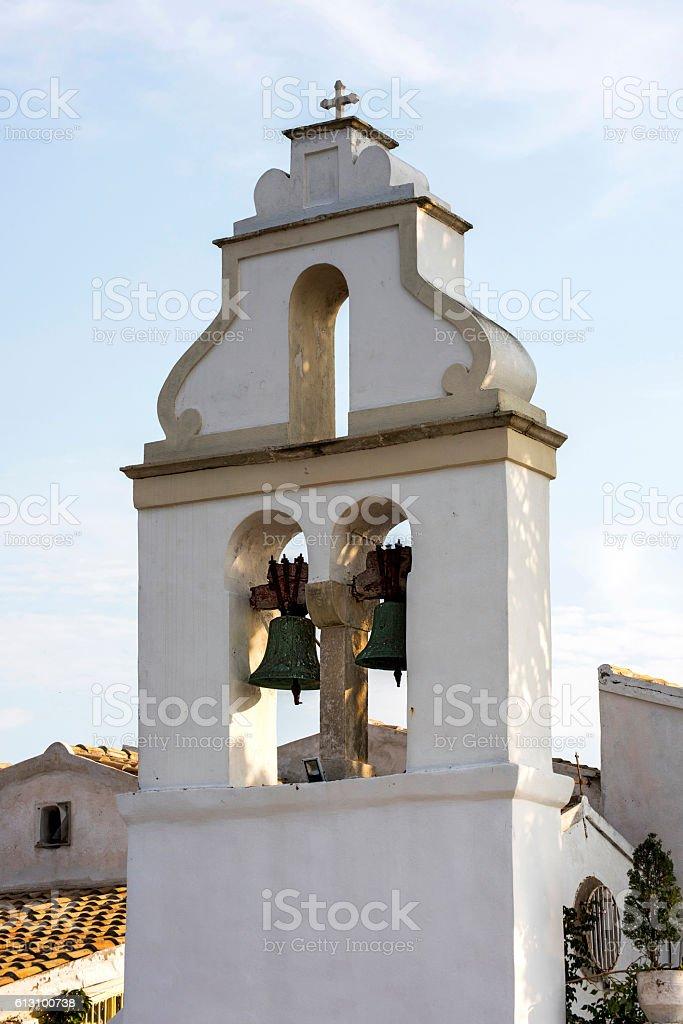 Belfry in Greece stock photo