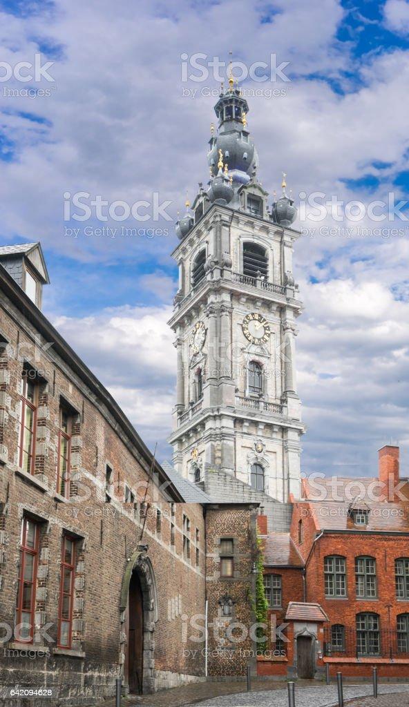 Belfry, Mons, Belgium stock photo