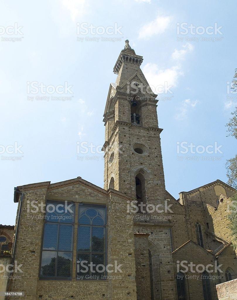 Belfry of Basilica di Santa Croce. Florence, Italy royalty-free stock photo