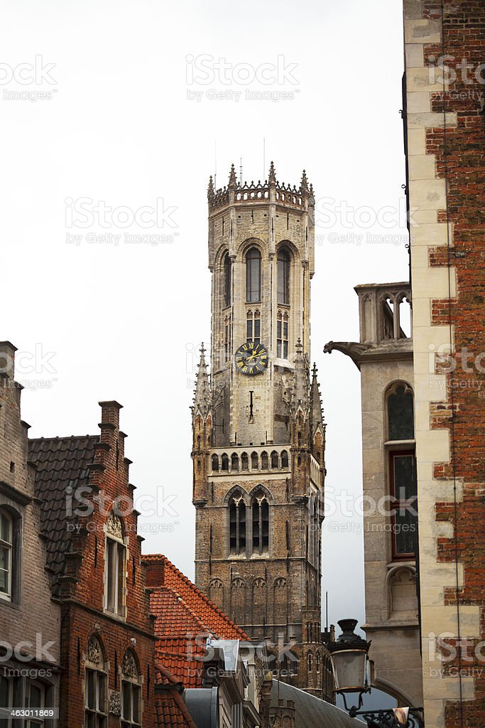 Belfry of Bruge royalty-free stock photo