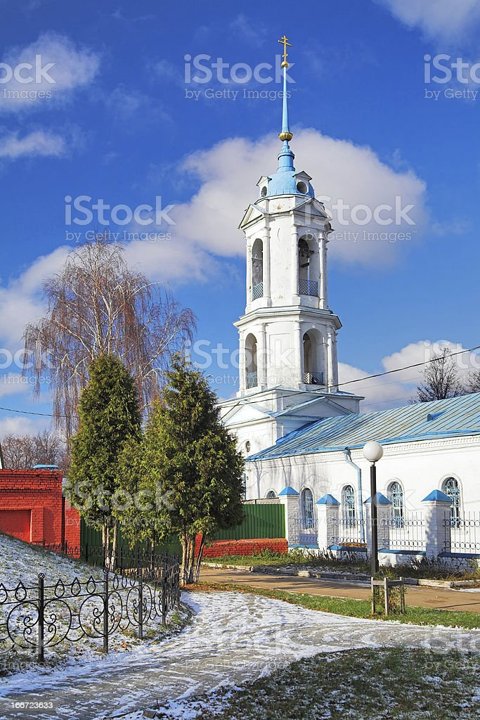 Belfry of the Annunciation Church in Zaraysk, Russia royalty-free stock photo