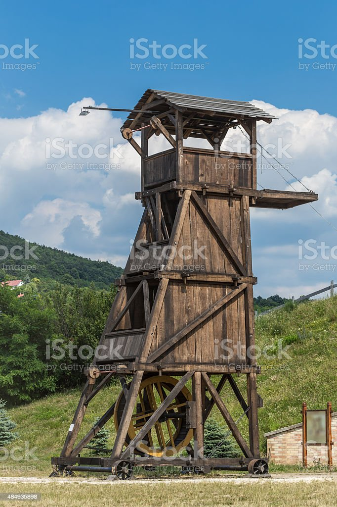 Belfry or siege tower stock photo