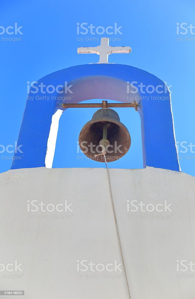 Belfry-Kastellorizo-Greece stock photo