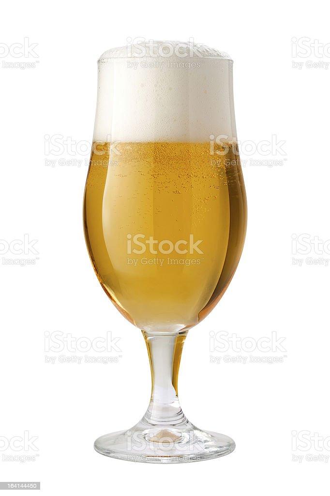 Belgian Ale Beer Glass stock photo