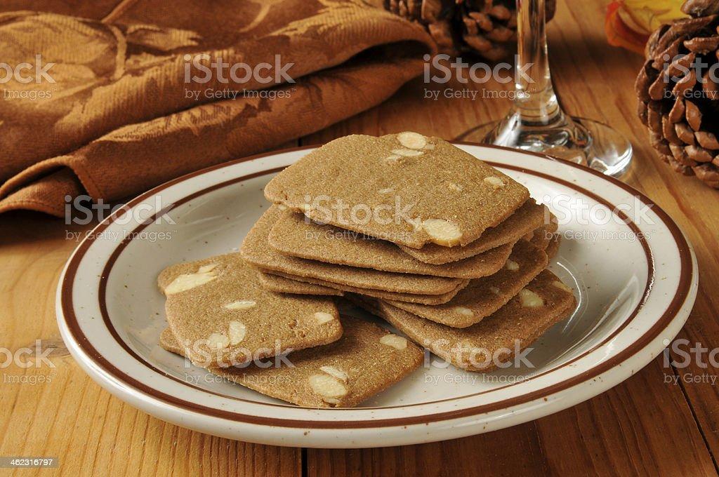 Belgian Almond Thins stock photo