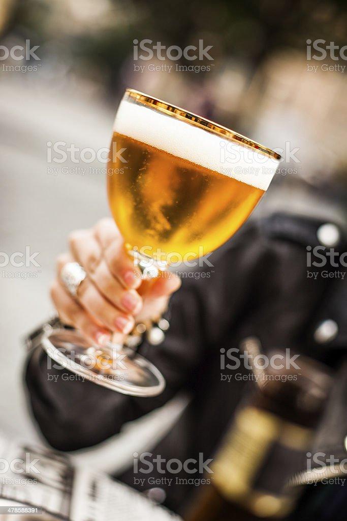 Belgian beer stock photo