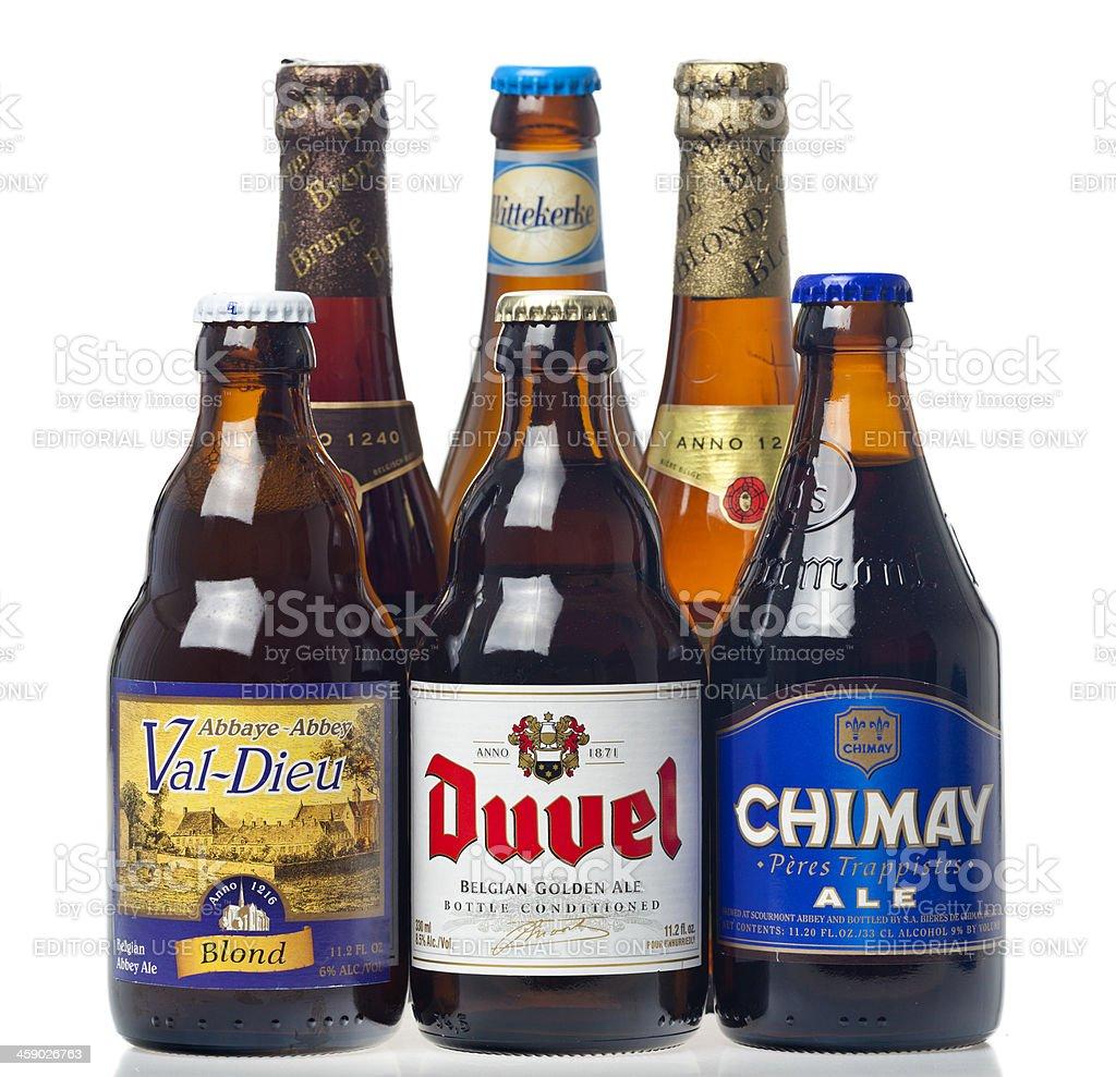 Belgian Beers stock photo