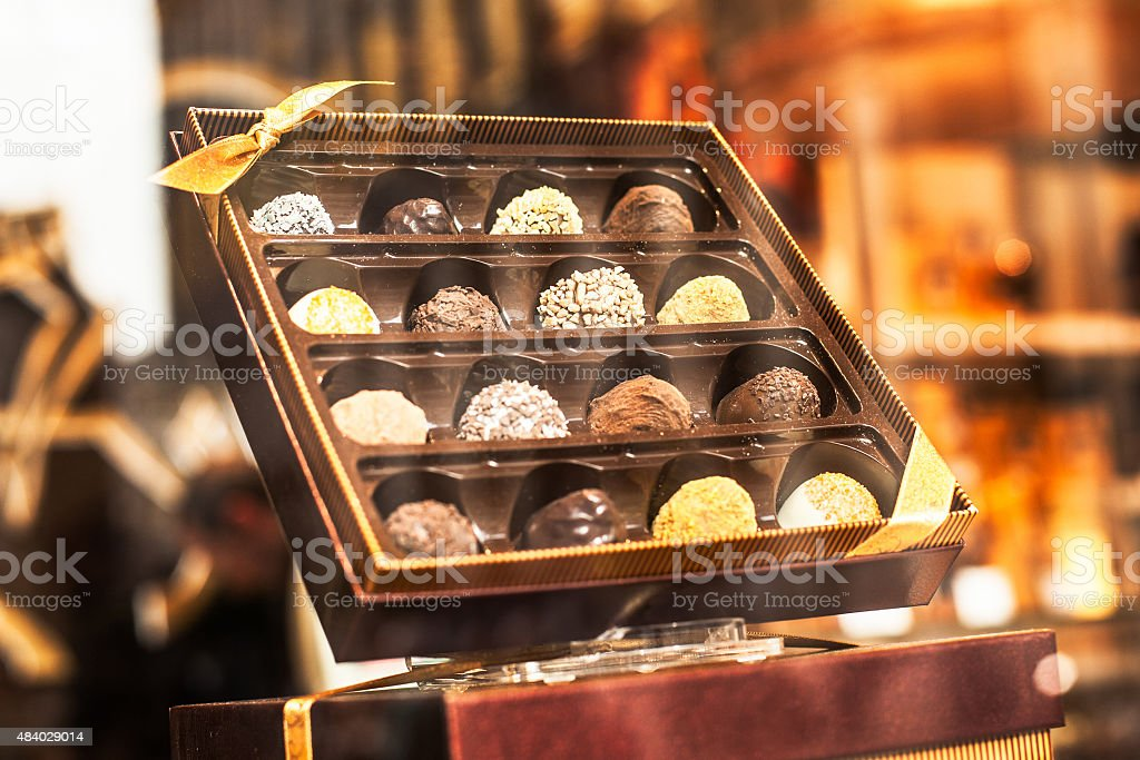 Belgian chocolate stock photo
