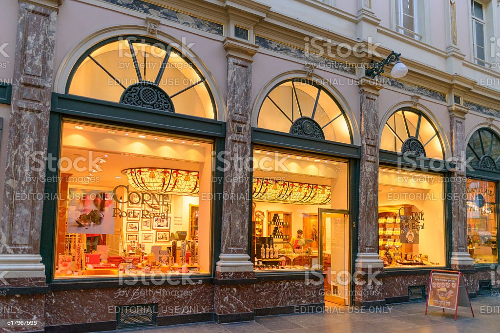 Belgian chocolate shop in Brussels stock photo