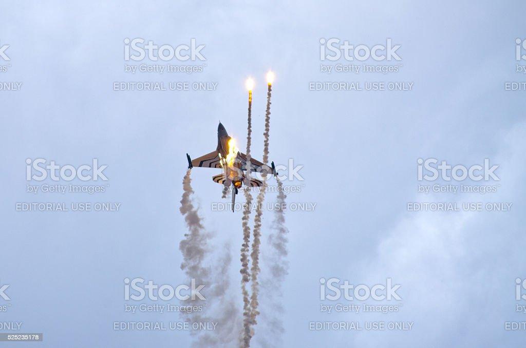 Belgian F-16 on Radom Airshow, Poland stock photo