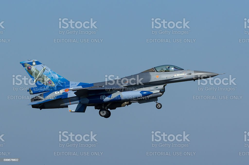 Belgian F-16AM Fighting Falcon at Frisian Flag exercise stock photo