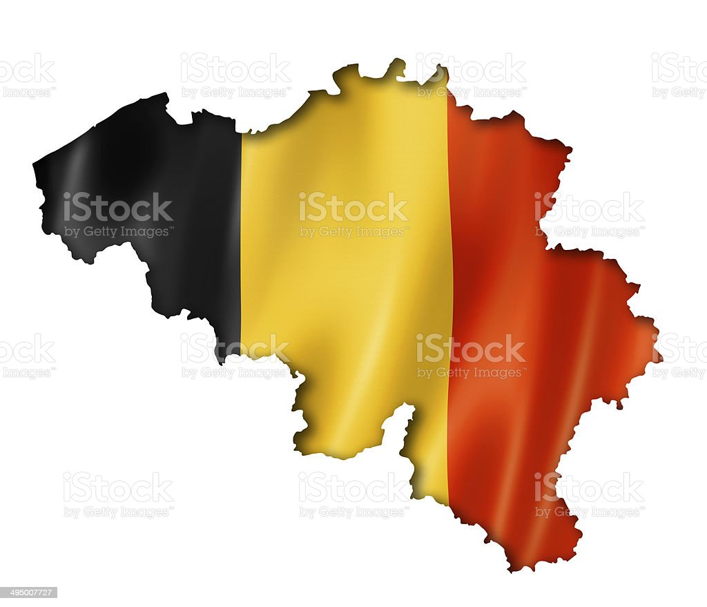 Belgian flag map stock photo