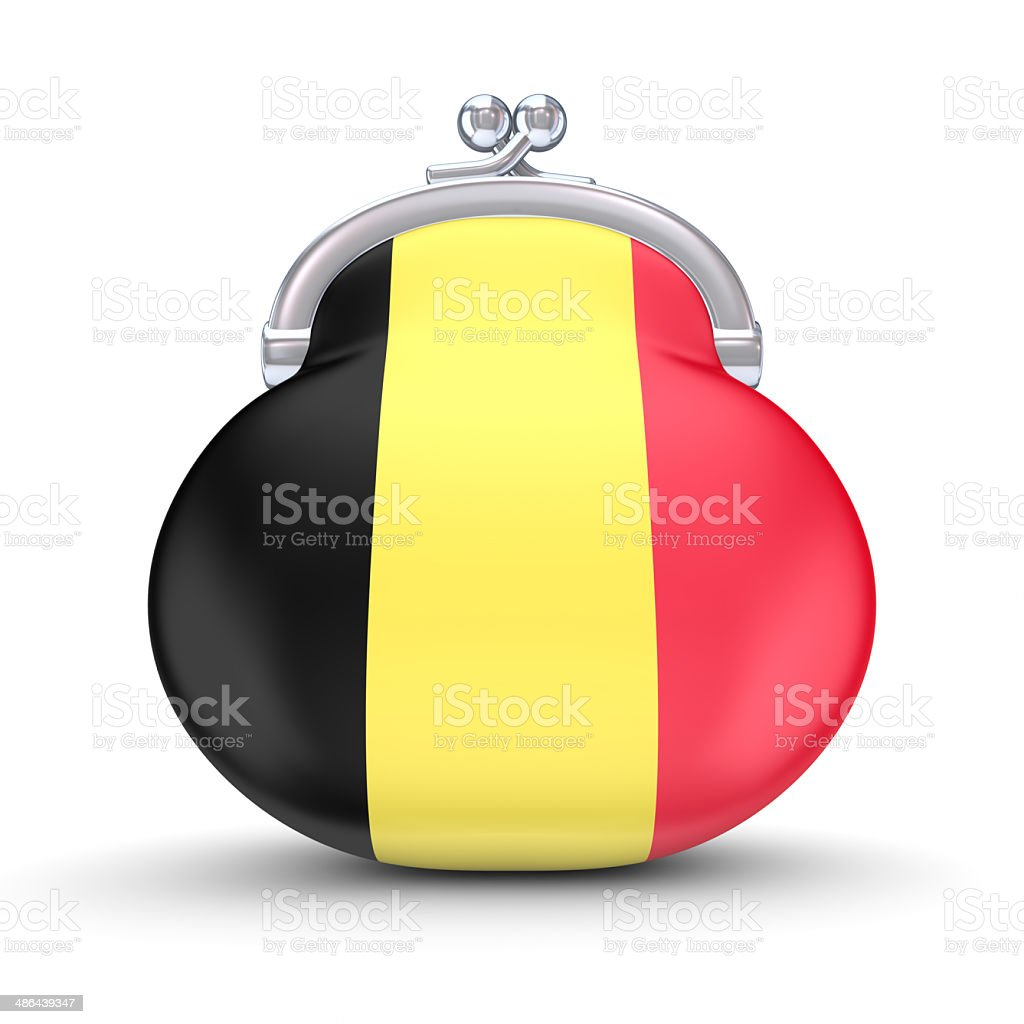 Belgian flag on a wallet. royalty-free stock photo