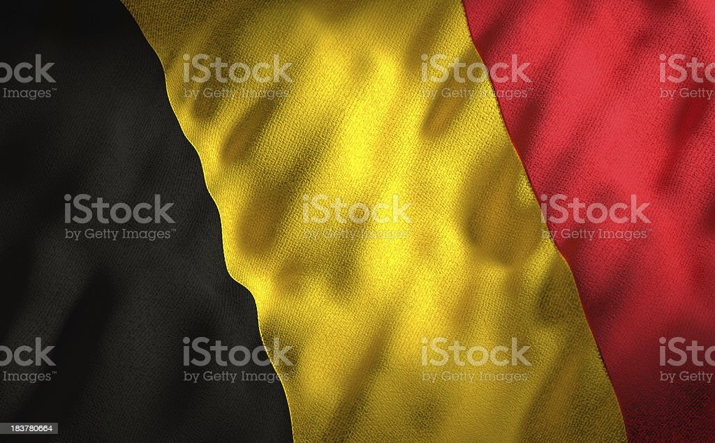 Belgian flag royalty-free stock photo