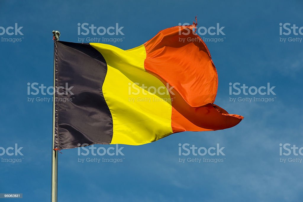 belgian flag stock photo