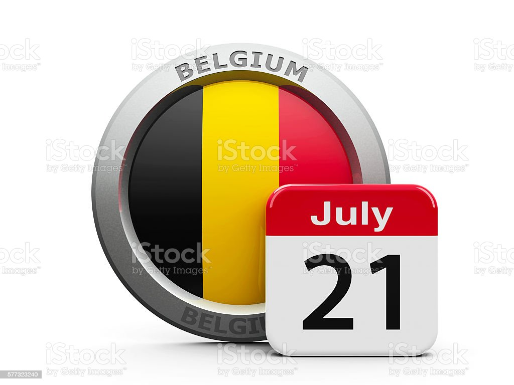 Belgian National Day stock photo