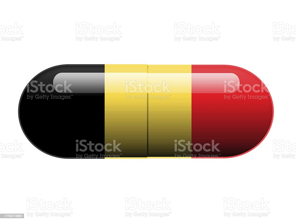 Belgian pill royalty-free stock photo
