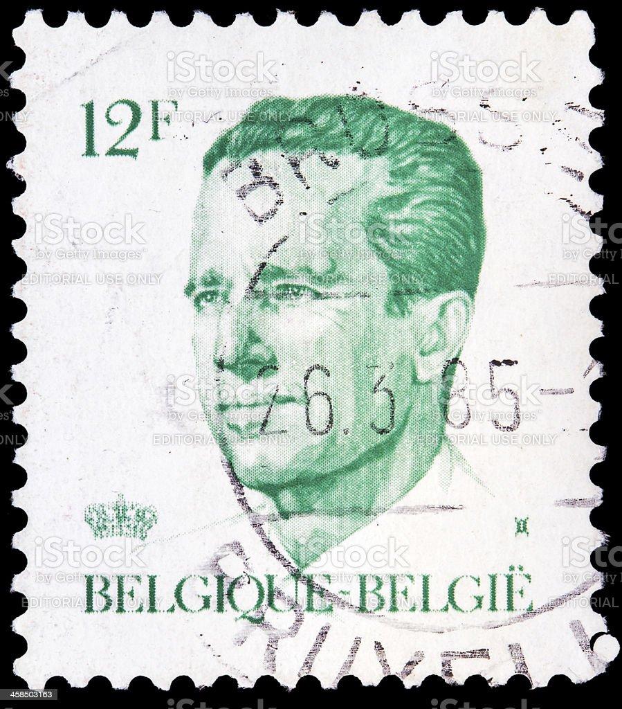 Belgian post stamp stock photo