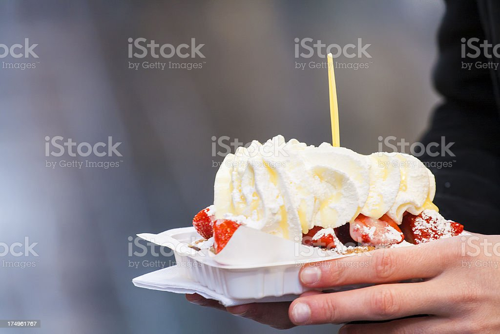 Belgian waffle royalty-free stock photo