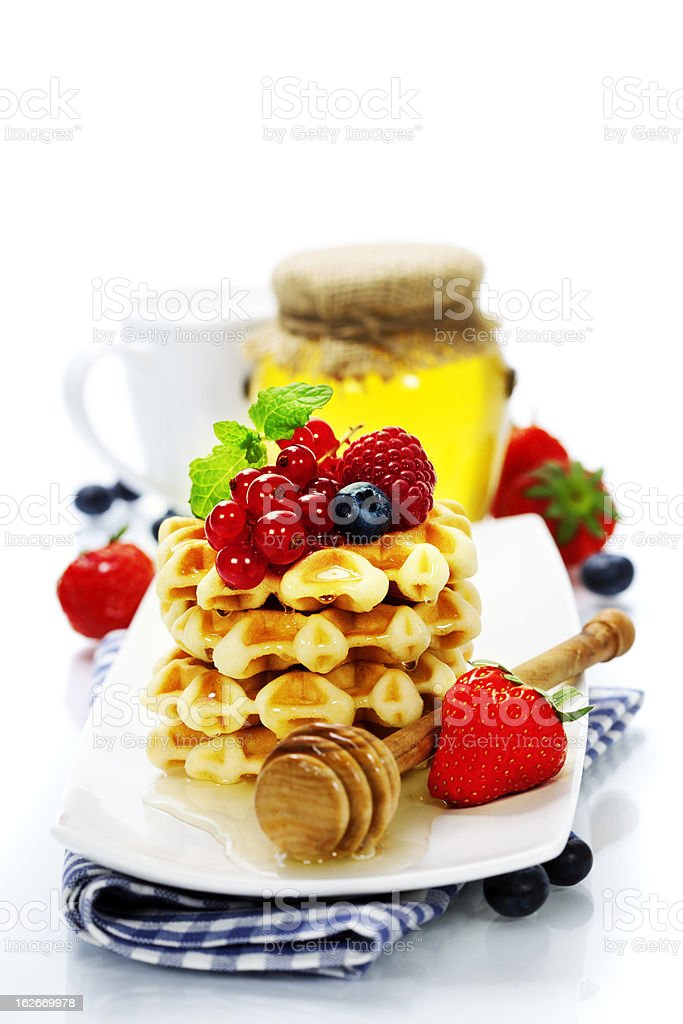 Belgian waffles royalty-free stock photo