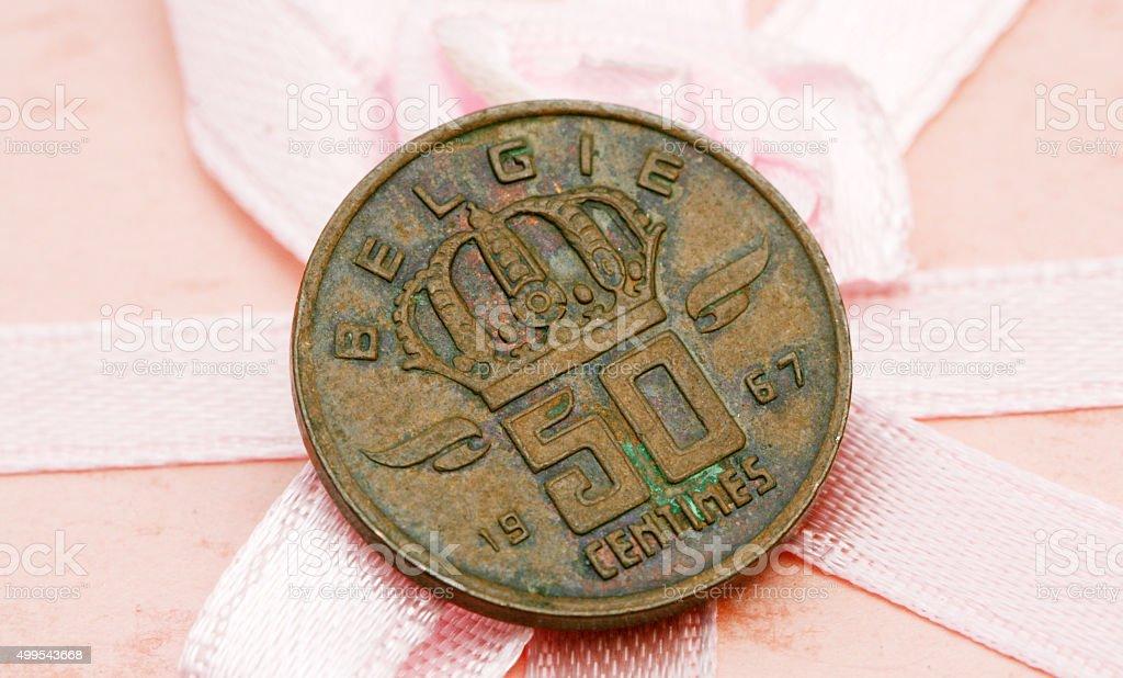 Belgium  coin stock photo