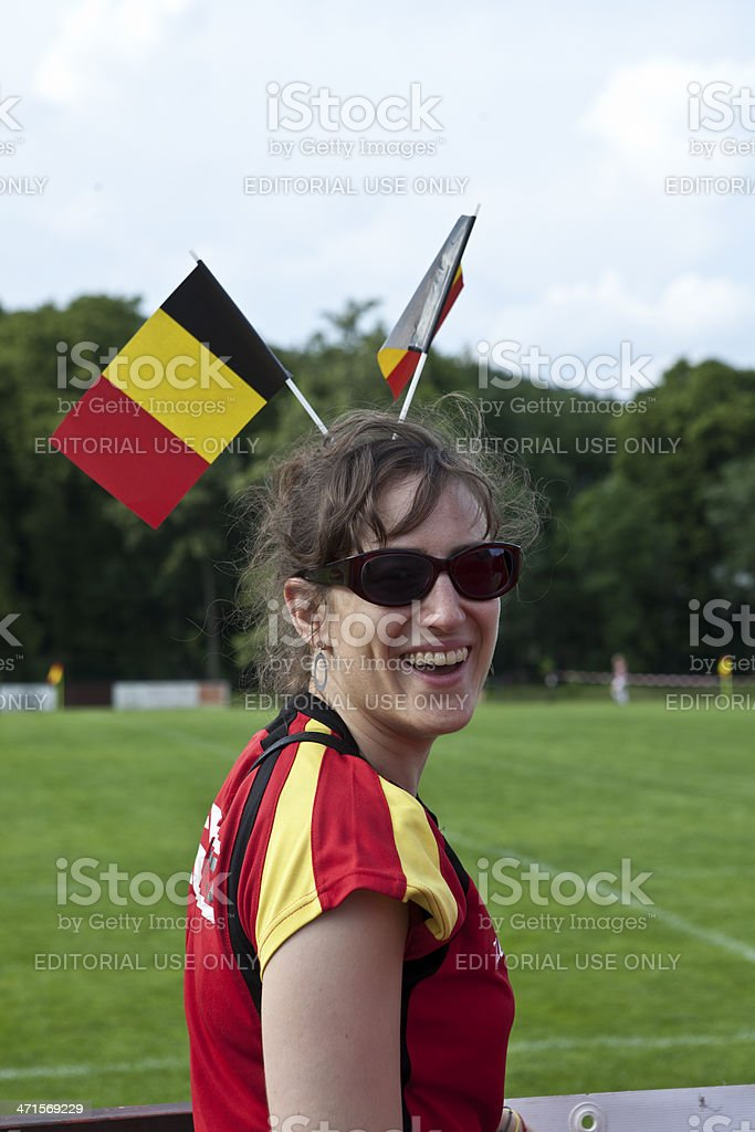 Belgium fan royalty-free stock photo