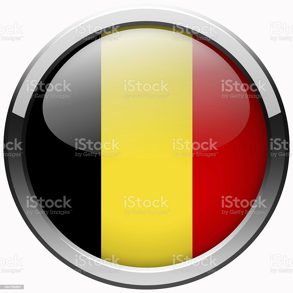 belgium flag gel metal button stock photo