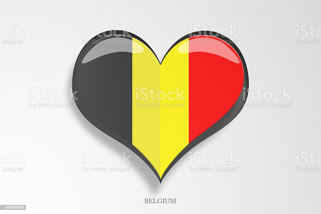 Belgium Flag Heart Shape stock photo