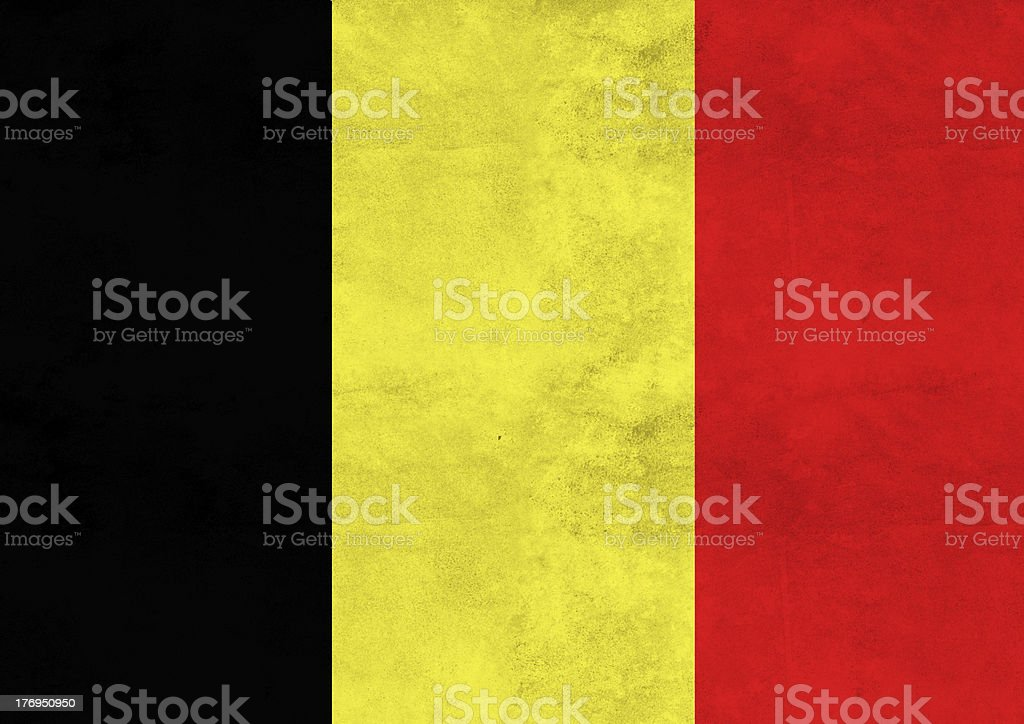 Belgium flag on vintage paper stock photo