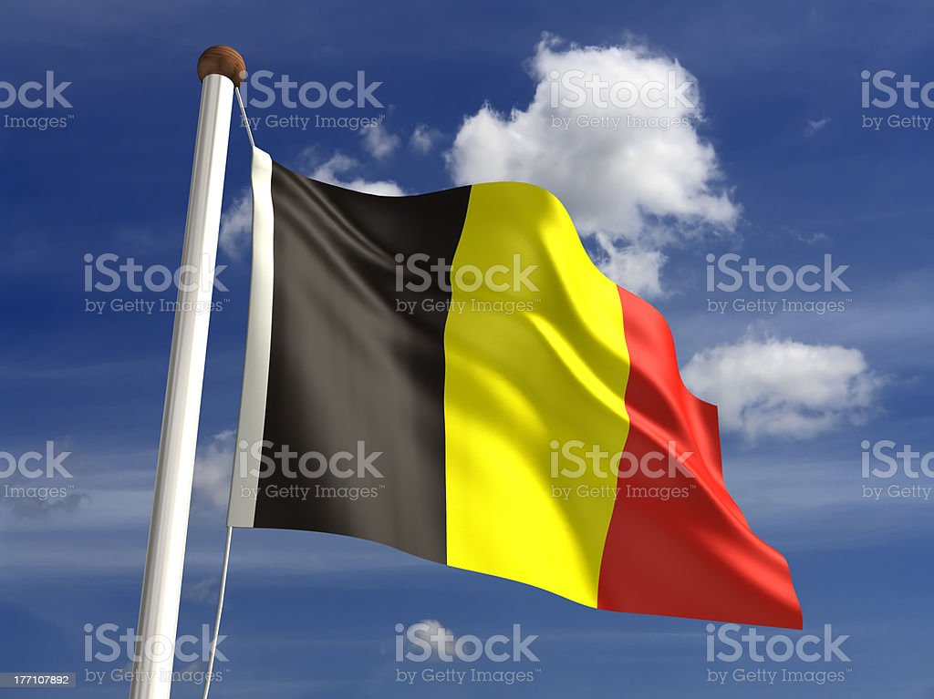 Belgium flag (with clipping path) stock photo