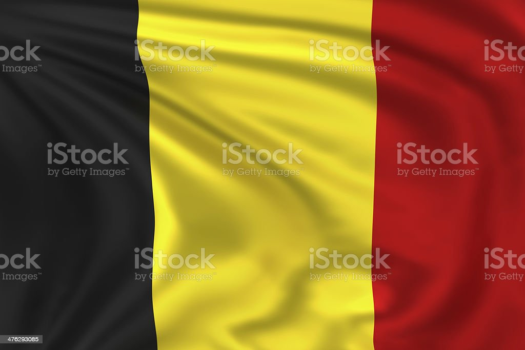 Belgium Flag stock photo
