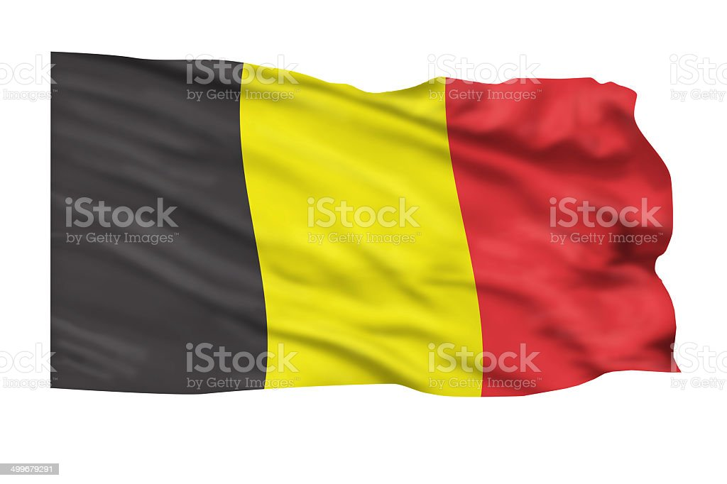 Belgium Flag. stock photo