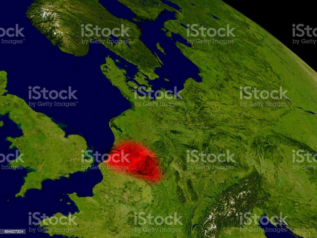 Belgium from space stock photo