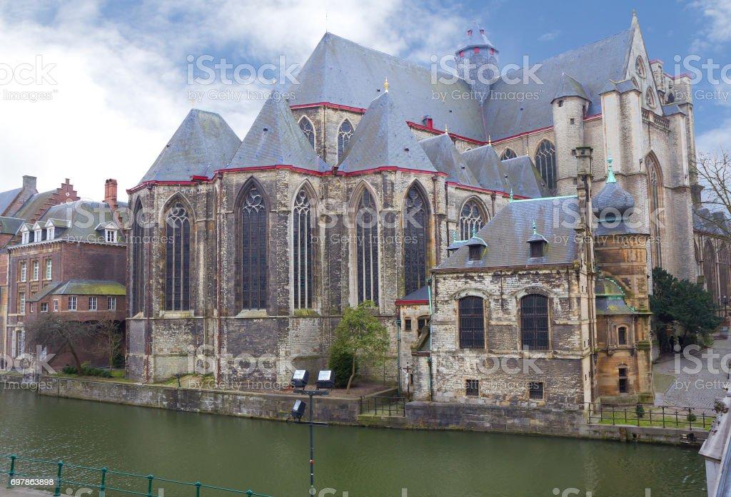 Belgium. Gent. Church. Michael stock photo