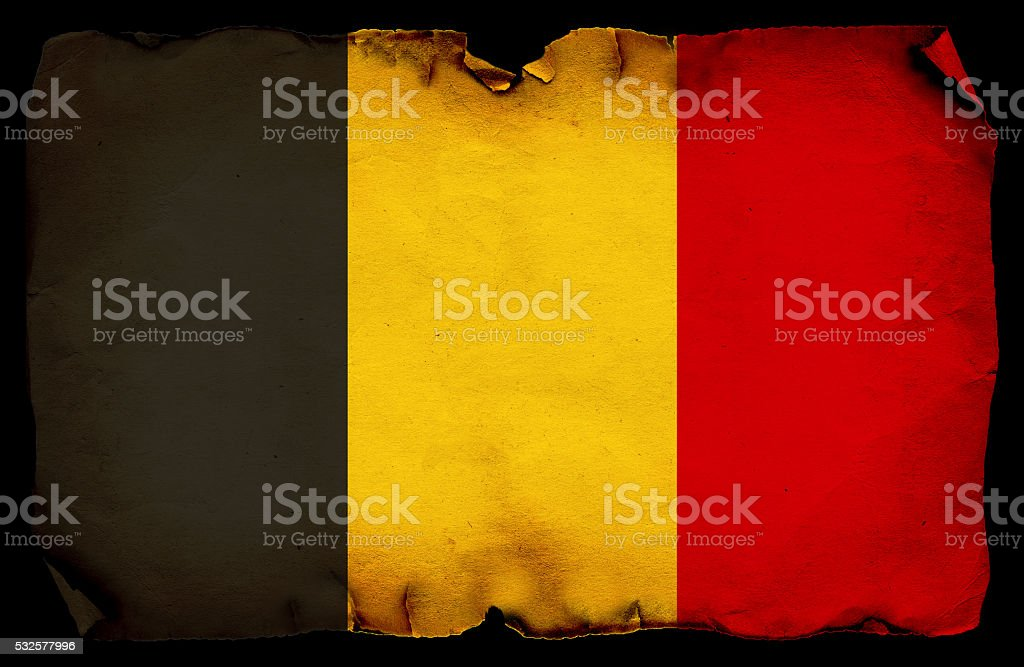 Belgium grunge flag stock photo