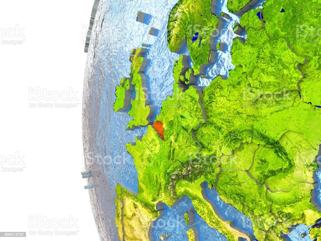 Belgium in red stock photo