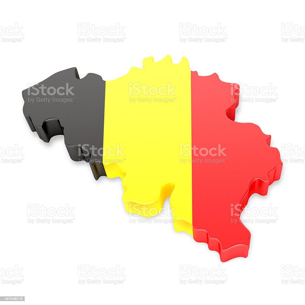 Belgium Map stock photo