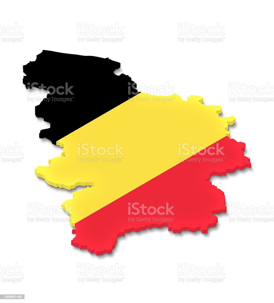 Belgium map with flag stock photo