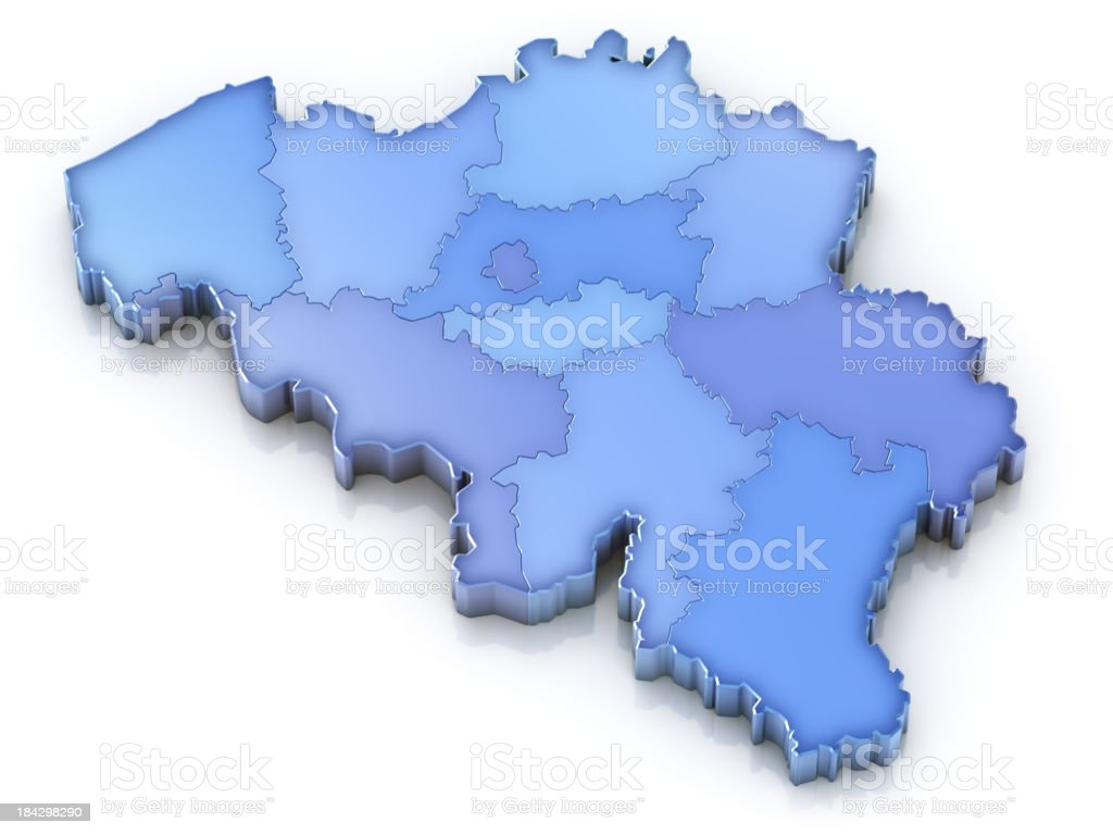 Belgium map with provinces stock photo